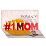 mothers day - #1 MOM 3D Greeting Cards (8x4)