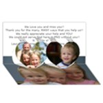 Mom and Dad 3D Card - Twin Hearts 3D Greeting Card (8x4)