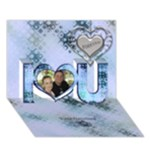 All stamped I love you 3D card - I Love You 3D Greeting Card (7x5)