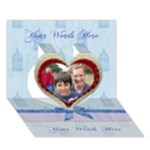 God Gives The Best Gifts, love, friendship,fellowship 3d card - Heart 3D Greeting Card (7x5)