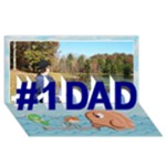 Fishing 3dCard #1 DAD a - #1 DAD 3D Greeting Card (8x4)