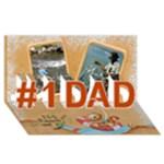 Fishy 3d Card 2 - #1 DAD 3D Greeting Card (8x4)