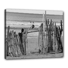 Sticks bw - Canvas 20  x 16  (Stretched)