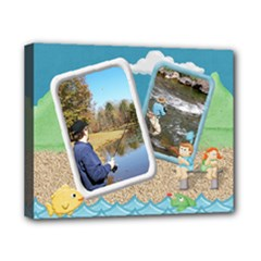Gone Fishing Canvas 10x8 Stretched1 - Canvas 10  x 8  (Stretched)