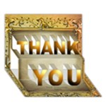 Thank you 3D Card - THANK YOU 3D Greeting Card (7x5)