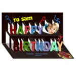 Boys birthday 3D card - Happy Birthday 3D Greeting Card (8x4)