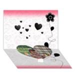 splash2_love you - Heart Bottom 3D Greeting Card (7x5)