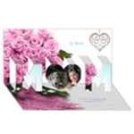 I love you Mum 3D Card 2 - MOM 3D Greeting Card (8x4)