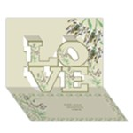 Gold Love 3d General Card - LOVE 3D Greeting Card (7x5)