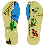 No navigator needed, I drew  a map to you! - Men s Flip Flops