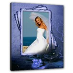 Memories in Blue 24x20 Stretched Canvas - Canvas 24  x 20  (Stretched)