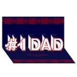 No 1 Dad 3D Card - #1 DAD 3D Greeting Card (8x4)