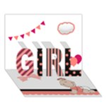 Baby Girl - 3D Card - GIRL 3D Greeting Card (7x5)