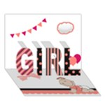 Baby Girl - 3D Card - Pink Polka Dot - GIRL 3D Greeting Card (7x5)