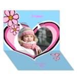 Hearts Girl General 3d Card - Heart 3D Greeting Card (7x5)