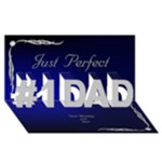 Perfect Dad 3D Card - #1 DAD 3D Greeting Card (8x4)