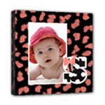 Baby -- Animal Print Wall Art - Mini Canvas 8  x 8  (Stretched)