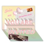 Join us Girl 3D Card - YOU ARE INVITED 3D Greeting Card (7x5)