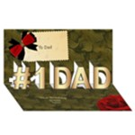 To Dad 3d Card - #1 DAD 3D Greeting Card (8x4)