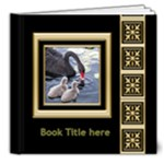 Black and Gold  Deluxe 8x8 Book (20 Pages) - 8x8 Deluxe Photo Book (20 pages)