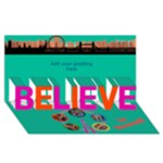 Believe in London 3d Card - BELIEVE 3D Greeting Card (8x4)