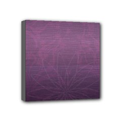 PurpleFlowers - Mini Canvas 4  x 4  (Stretched)