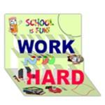 work hard - WORK HARD 3D Greeting Card (7x5)