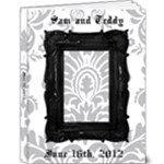 flocked wedding album - 9x12 Deluxe Photo Book (20 pages)