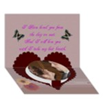 To My Love - Circle Bottom 3D Greeting Card (7x5)