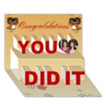 Owl You did it Card - You Did It 3D Greeting Card (7x5)