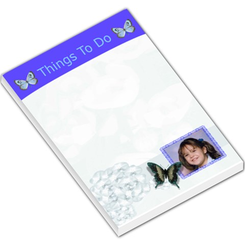 Blue Large Memo Pad By Kim Blair   Large Memo Pads   S5gxltrwn37s   Www Artscow Com