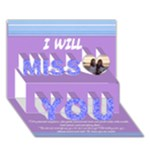 Ayelet miss you! - Miss You 3D Greeting Card (7x5)