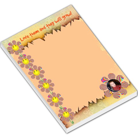 Love Them Large Note Pad By Kim Blair   Large Memo Pads   Jcsu8eexui5k   Www Artscow Com