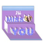 card 4 efrat - Miss You 3D Greeting Card (7x5)