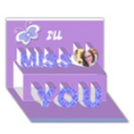 card 4 Sarah - Miss You 3D Greeting Card (7x5)