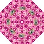 Pink Daisy and Heart umbrellas - Folding Umbrella