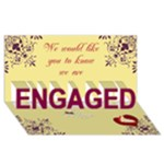 engagement card - ENGAGED 3D Greeting Card (8x4)