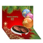 Seasons Greeting 3D Circle (7x5) Card 2 - Circle Bottom 3D Greeting Card (7x5)