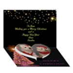 Merry Christmas 3D Card - Heart Bottom 3D Greeting Card (7x5)