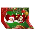 Christmas Heart 3D Card 2016 - Twin Hearts 3D Greeting Card (8x4)