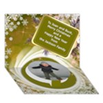 Christmas Circle 3D Card - Circle Bottom 3D Greeting Card (7x5)