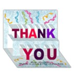NAN1 - THANK YOU 3D Greeting Card (7x5)