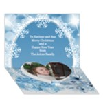 Merry Christmas heart 3D Card - Heart Bottom 3D Greeting Card (7x5)