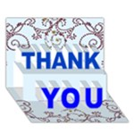 Blue victorian thank you card - THANK YOU 3D Greeting Card (7x5)