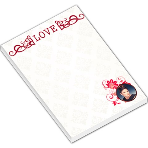 Love Large Memo Pad By Kim Blair   Large Memo Pads   E1ij74oul53e   Www Artscow Com