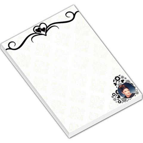 Heart boarder Large memo Pad by Kim Blair