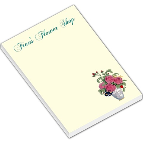 Flower Shop Memo Pad Large By Kim Blair   Large Memo Pads   2nt3uqkb0bb7   Www Artscow Com
