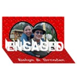 engaged card idea - ENGAGED 3D Greeting Card (8x4)