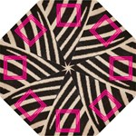 Zebra and pink - Folding Umbrella