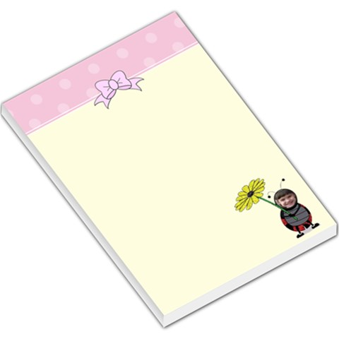 Lady Bug Large Memo Pad By Kim Blair   Large Memo Pads   Z7s6pwhxausl   Www Artscow Com